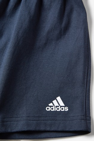adidas Infant Blue T-Shirt And Short Set