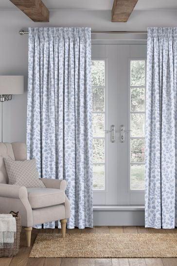 Lucerne Sky Blue Made To Measure Curtains