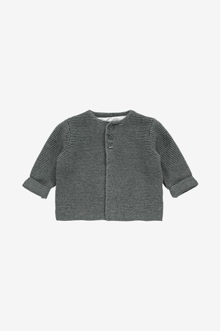 The Little Tailor Charcoal Cotton Cardigan