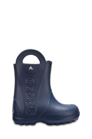 Crocs Blue Handle It Rain Boots