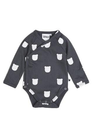 Tobias & The Bear Grey Charcoal Bear Organic Cotton Kimono