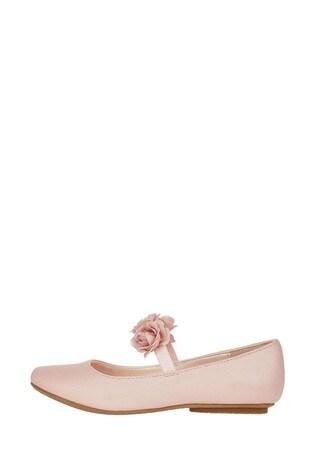 Monsoon Dora Corsage Strap Ballerina Shoes