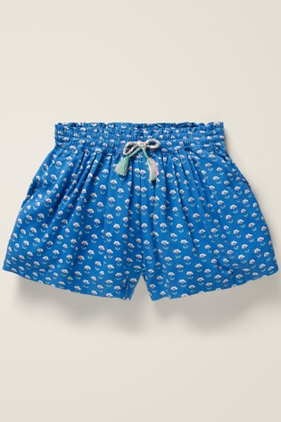 Boden Blue Printed Shorts