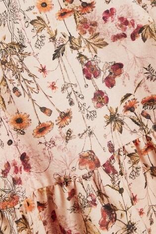 Peach Floral Sweat Dress (3mths-7yrs)
