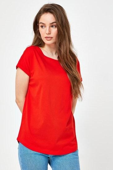 Orange Cap Sleeve T-Shirt