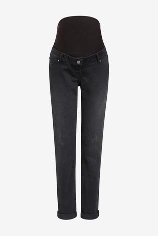 Denim Black Maternity Boyfriend Jeans
