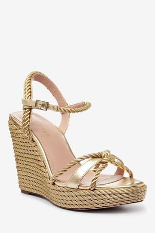 Kurt Geiger London Neile Gold Sandals