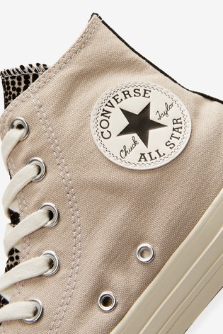 Converse Croc Print High Trainers