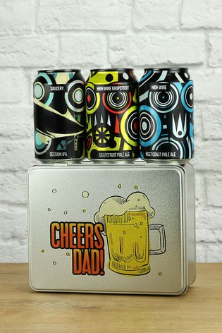 Cheers Dad Beer Tin Gift Gift Set by LeBonVin