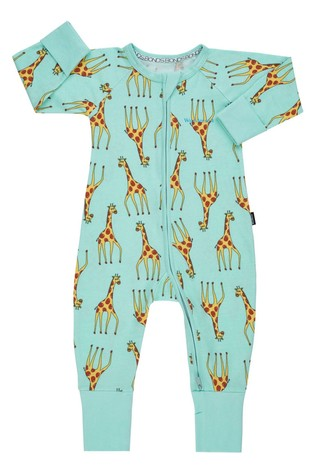 Bonds Blue Zip Giraffe Wondersuit