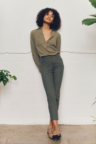 Monsoon Green Safaia Ankle Grazer Jeans
