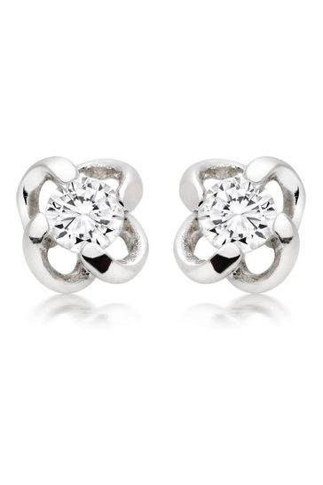 Beaverbrooks Silver Bee Drop Earrings