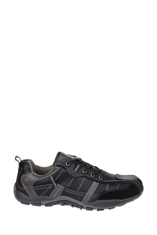 Fleet & Foster Black Portsmouth Casual Shoes