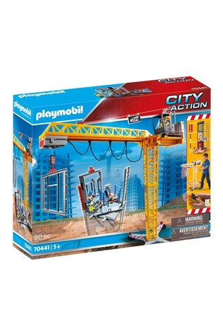 Playmobil® 70441 City Action Construction Crane with Remote Control