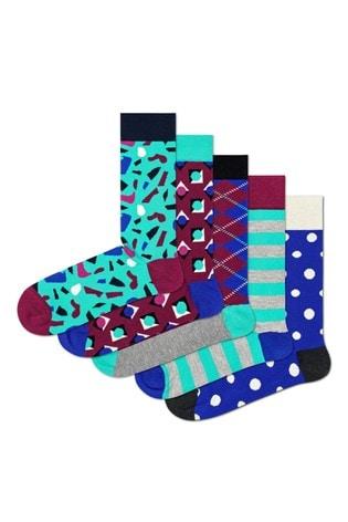 Happy Socks Purple Stone Socks 5 Pack