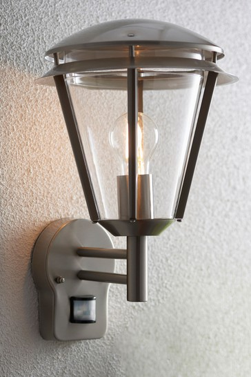 Gallery Direct Silver Barkley Outdoor Wall Light