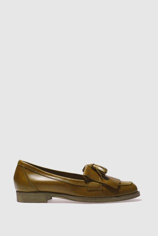 Schuh Tan Compass Leather Loafers