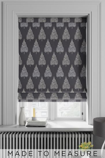 Coco Steel Grey Made To Measure Roman Blind