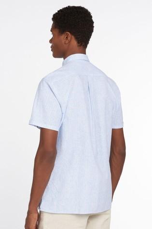 Barbour® Linen Stripe Short Sleeve Shirt