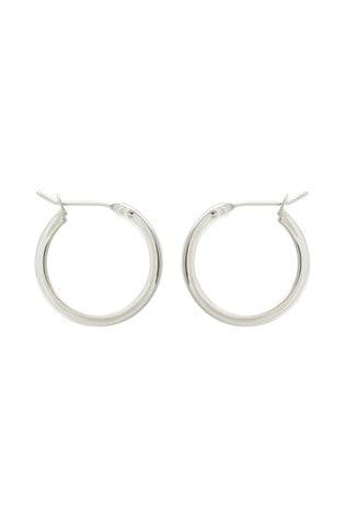 Oliver Bonas Sterling Silver Elm Round Hoop Earrings