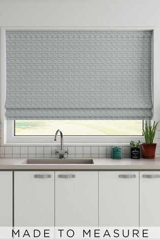 Clio Spa Green Made To Measure Roman Blind