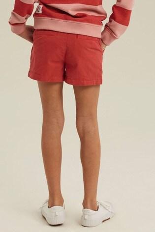 FatFace Red Alice Chino Shorts