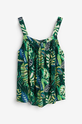 Green Palm Cami Top