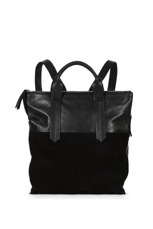 Oliver Bonas Black Ivy Backpack Tote Bag