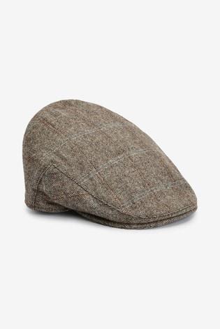 Brown Christys' London Flat Cap