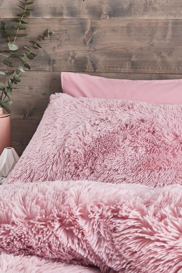 So Soft Cuddly Deep Pile Duvet Cover and Pillowcase Set by Catherine Lansfield