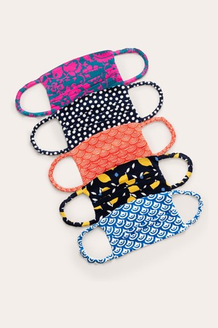 Boden Blue Non-Medical Face Coverings Five Pack