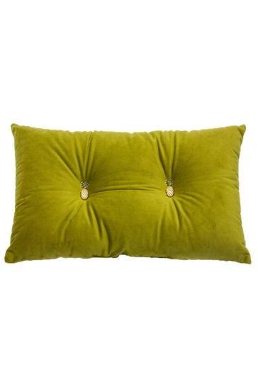 Riva Home Green Pineapple Cushion