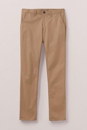 Crew Clothing Company Tan Slim Chinos