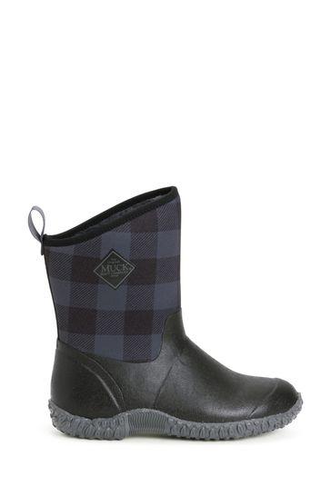 Muck Boots Black Muckster II Mid Wellington Boots