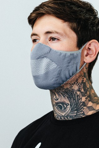 Hype. Adults Grey Knit Face Coverings Three Pack