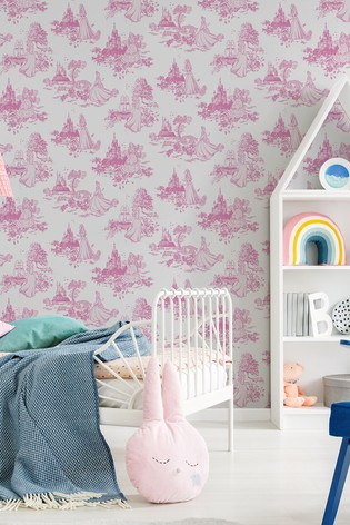 Disney™ Princess Toile Wallpaper by Art For The Home