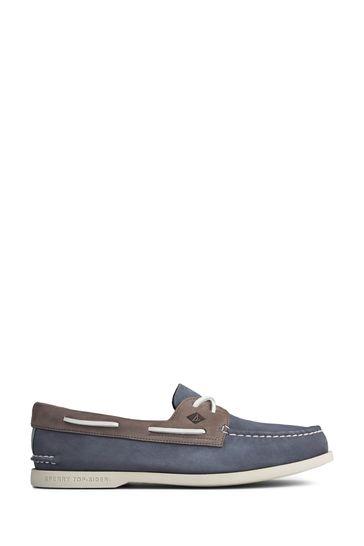 Sperry Blue Authentic Original PLUSHWAVE Washable Boat Shoes