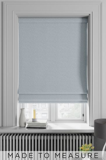 Noah Duck Egg Blue Made To Measure Roman Blind