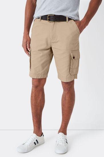 Crew Clothing Company Stone Cargo Shorts