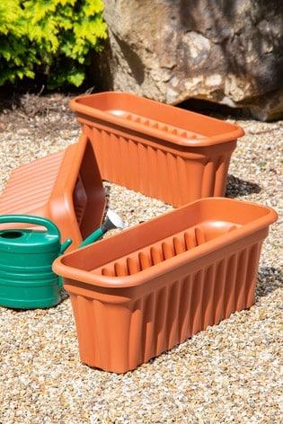 Set of 3 Vista 80cm Garden Troughs by Wham