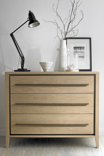 Rimini Oak 3 Drawer Chest by Bentley Designs