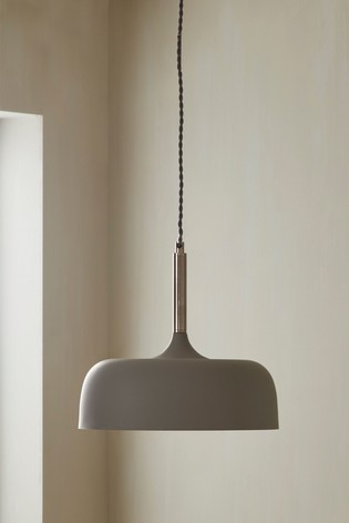 Pacific Anke Matt Domed Metal Pendant