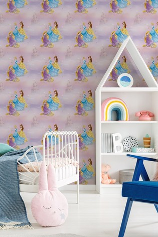 Disney™ Pretty as a Princess Wallpaper by Art For The Home