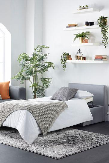 Aspire Footstool Bed Linen Grey