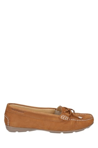 Hush Puppies Tan Maggie Slip-On Toggle Shoes