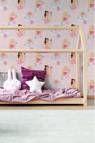 Art For The Home Pink Disney™ Pastel Princess Wallpaper