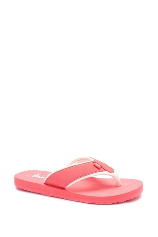 Animal Red Swish Block Flip Flops
