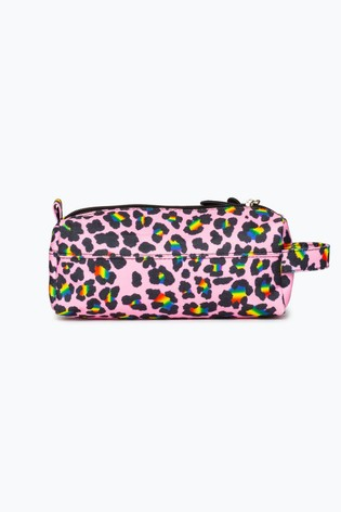 Hype. Rainbow Leopard Pencil Case