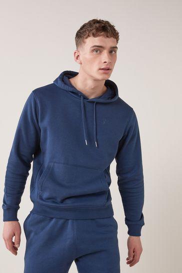 Denim Blue Overhead Hoodie Jersey