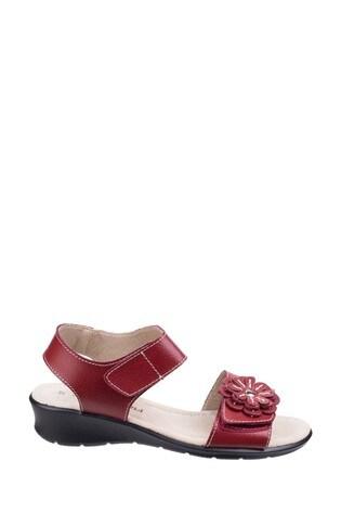 Fleet & Foster Red Sapphire Touch Fastening Sandals